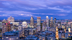 Montreal  Skyline (xiaoping98) Tags: montreal skyline montroyal sunset bluehour cityscape travelphotography
