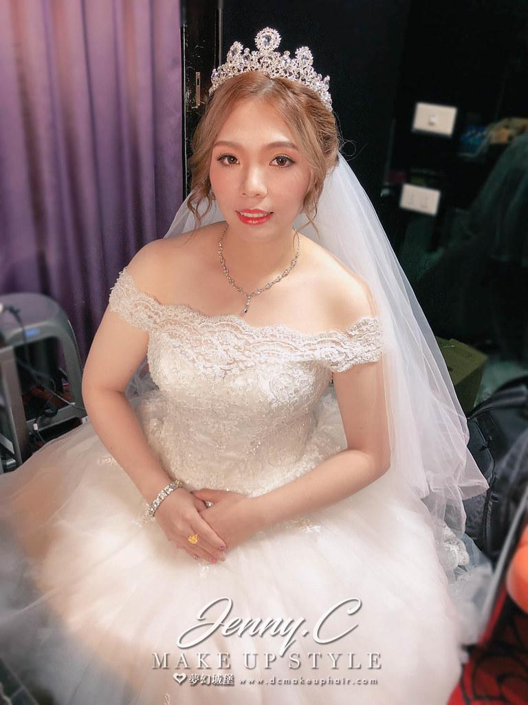 【新秘蓁妮】bride郁雯 訂結婚造型 / 台中陶體會館