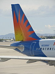 ALLEGIANT A319-111 N336NV (kenjet) Tags: n336nv g4 allegiant allegiantair allegiantairlines 319 a319 a319111 las lv nevada lasvegas klas mccarran lasvegasmccarran logo sun orange tail