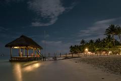 night at the beach (Rafael Zenon Wagner) Tags: nacht night beach strand sand ocean ozean palmen palms steg pier tropical travel tropisch nikon d810