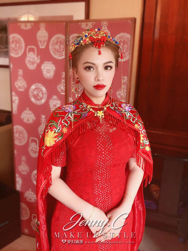 【新秘蓁妮】bride MOMO 訂婚造型 / 台北六福客棧