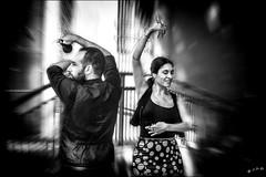Andalusian street dance (vedebe) Tags: danse danseurs homme femme humain human people rue street urbain urban ville city noiretblanc netb nb bw monochrome espagne