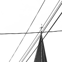 Holy Lines (philippe baumgart) Tags: benfeld alsace elsass street urbain urban minimalism minimal blackandwhite noiretblanc bw bnw church