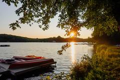 DSC01567 (Dallas K. Sanders) Tags: sunset water sundown summervacation july19 boats kayak huntsville trees vacation lake sonyrx100v ontario sunlight camera july canada travelswithmom 2019 dusk canoe