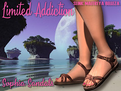 Limited Addiction - Sophia Sandals - Second Life (LimitedAddiction) Tags: secondlife second life fashion blog girls kawaii emo gothic summer suede rigged mesh high quality alexxis decuir sayanicole cuttita inworld virtual world 3d game