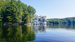 Empty Cottage (Dallas K. Sanders) Tags: cottage clearwater adobelightroom water summervacation clearsky kayak huntsville freshwater trees lake greentrees ontario galaxynote8 canada freshair cottagelife sky travelswithmom cleanwater 2019 lightroom canoe