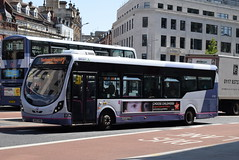 FWE 47572 @ The Centre, Bristol (ianjpoole) Tags: first west england wright streetlite max df sk63kkn 47452 working route 24 langley crecent ashton val broadmead hospital