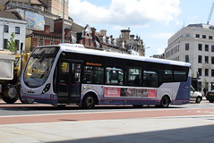 FWE 47450 @ The Centre, Bristol (ianjpoole) Tags: first west england wright streetlite max df sk63kkl 47450 working route 24 langley crecent ashton val broadmead hospital