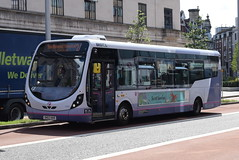 FWE 47455 @ The Centre, Bristol (ianjpoole) Tags: first west england wright streetlite max sk63kkr 47455 working route 24 langley crecent ashton val broadmead hospital