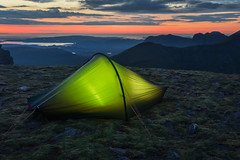Wild Camping (Andrew G Robertson) Tags: tom na gruagaich beinn alligin tent torridon sunset wild camp highlands scotland