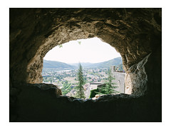 View from the Cave (Thomas Listl) Tags: thomaslistl color nml nomansland av af cave naturalframe stone sisteron tree sky bright contrast city cityscape mood light citadelledesisteron green ngc