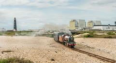 Dungeness Departure (Kingmoor Klickr) Tags: gordonedgar rhdr 5 hercules daveypaxman romney hythe dymchurch railway dungeness lighthouse nuclearpowerstation