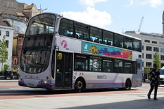 FWE 32691 @ The Centre, Bristol (ianjpoole) Tags: first west england volvo b7tl wright eclipse gemini wx56hkg 32691 working route 71 ashton campus bower frenchay university