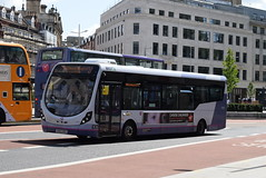 FWE 47543 @ The Centre, Bristol (ianjpoole) Tags: first west england wright streetlite max df sk63kko 47453 working route 24 langley crecent ashton val broadmead hospital