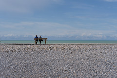 infinity (the ripped bystander) Tags: seashore people sitting bench