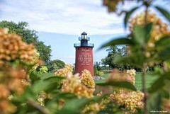 Welcome to Lewes.... (Joe Hengel) Tags: welcometolewes leweslighthouse delaware de lowerslowerdelaware lsd lewesde lewes lighthouse sky clouds flowers flower sussexcounty