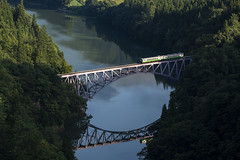 Train on the clear river (Tom Hanawa) Tags: