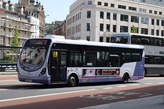 FWE 47563 @ The Centre, Bristol (ianjpoole) Tags: first west england wright streetlite max df sn64clv 47563 working route 24 langley crecent ashton val broadmead hospital