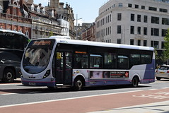 FWE 47445 @ The Centre, Bristol (ianjpoole) Tags: first west england wright streetlite max df sk63knu 47445 working route 24 langley crecent ashton val broadmead hospital