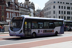 FWE 47560 @ The Centre, Bristol (ianjpoole) Tags: first west england wright streetlite max df sn64clj 47560 working route 24 langley crecent ashton val broadmead hospital