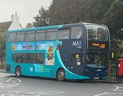 Arriva North East 7529 NK64 EFM (10/09/2019) (CYule Buses) Tags: servicex18 arrivamax arrivabus arrivanortheast enviro400 alexanderdennis alexanderdennisenviro400 nk64efm 7529