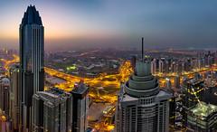 EXIST LOUDLY (durlavrchowdhurynasa) Tags: dubai mydubai expo2020 emirates skyscannerdubai princesstower panorama cityscape sunrise dubaimarina bluehour uae lovindubai timeoutdubai colorful morning