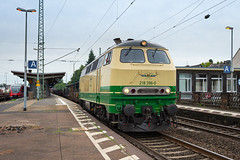 Brohltalbahn 218 296-0 with a cargo train seen in Andernach, Germany (Martin Bärtges) Tags: summer clouds outside nikon colorful diesel cloudy outdoor sommer engine wolken cargo be lokomotive wolkig d4 güterzug farbenfroh bewölkt br218 bewölkung drausen farbtupfer nikonphotography nikonfotografie diesellokomotiven traintrainspotting brohltahlbahn germany deutschland andernach