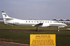 G-BUKA Metro Atlantic Airways CVT 07-04-95 (cvtperson) Tags: gbuka fairchild metro iii atlantic coventry airport cvt egbe