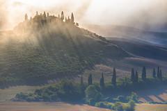 Rising Belvedere (Massimiliano Teodori) Tags: valdorcia sanquiricodorcia pienza torrenieri landscape tuscany italy belvedere gladiator movielocation fog haze mist dawn rising sun