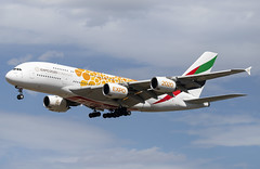 A6-EOU Airbus A380-800 Emirates Expo 2020 Orange FRA 2019-08-11 (17a) (Marvin Mutz) Tags: a6eou emirates airbus a380800 fra aviation planespotting avgeek aircraft airplane aeroplane plane pilot cockpit crew passenger travel transport jet jetliner airline airliner wings engines airport runway taxiway apron clouds sky flight flying expo 2020 orange dubai frankfurt main germany arrival landing approach