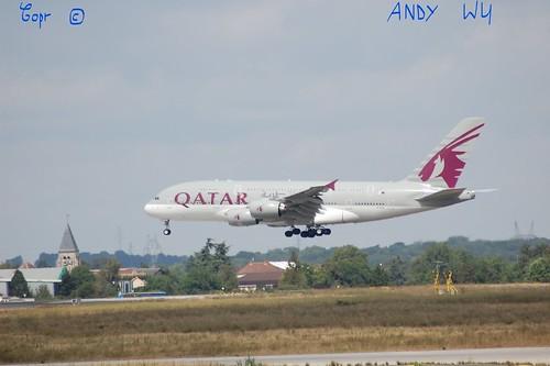 Airbus A380 Qatar Airways (08/07/2019)