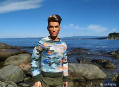 5 (MarKifay) Tags: love ken mattel barbie dolls doll sea nature water horizon stones beach primorsky krai hills basics jeans moschino