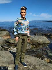 4 (MarKifay) Tags: love ken mattel barbie dolls doll sea nature water horizon stones beach primorsky krai hills basics jeans moschino