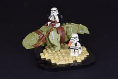 Dewback on Tatooine (Luca s projects) Tags: star wars lego dewback tatooine moc lsp episode iv sand trooper galactic civil war 0bby