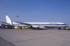 C-FCPS_1985-09_MUC_1200_HS (stefanmuc2001) Tags: cfcps dc8 dc863 douglasdc8 mcdonnelldouglas icelandair airalgerie airalgérie worldwayscanada airliner jetliner aircraft plane flugzeug 1985 münchen munich eddm muc münchenriem munichriem flughafenriem airport flughafen kodachrome k25 slidescan aircraftslide