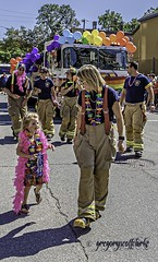 PRIDE 2019 - wants to be a firefighter.. (gregoryscottclarke photography) Tags: prideparade2019 lgbtq flamboyant colourful characters makeup fashion statement glamour fabulous gay lesbian transgender summer starwars floats balloons