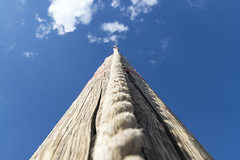 Rope Climb Obstacle (aaronrhawkins) Tags: pole rope climb obstacle bluesky closeup skyward leading lines aaronhawkins