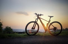 Sunset with Bike (hilmar0703) Tags: bicycle sunset bulls ebike germany