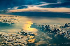 Golden path in the sky (FVillalpando) Tags: aerial clouds ocean reflection sun light golden sky landscape ngysa nature