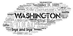 Washington (Ben Taylor55) Tags: washington theevergreenstate alki or byeandbye november11 1889 42nd state asotin bellingham bonney lake chehalis colfax colville davenport spokane olympia seattle tag tags tagcloud word words wordcloud