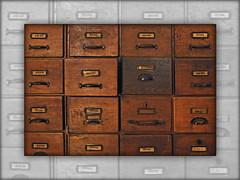 Card index boxes (Badenfocus_1.500.000+ views_Thanks) Tags: hannover ahlem badenfocus rosebuschverlassenschaften fujifilmx20 ausstellung sammlung exhibition collection art kunst