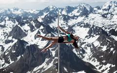 (dimitryroulland) Tags: nikon d750 85mm 18 dimitryroulland picdumidi montagnes france nature natural light white sky cold poledance pole dance dancer poledancer performer art artist