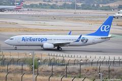 2019-06-24 MAD EC-MJU (Paul-H100) Tags: 20190624 mad ecmju boeing 737 b737 air europa