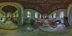 All Saints' Church - Hinton Ampner - Open for 360 view (TerryCym) Tags: hintonampner nationaltrust 360panorama hampshire hdr highdynamicrange allsaintschurch cheriton winchester stainedglasswindow pulpit doomsdaybook ptgui