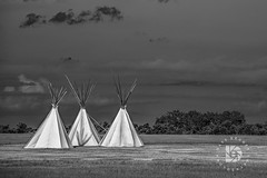 A Vision From The Past-B&W- #533 (DBruner240) Tags: nd north dakota great plains teepees tepee black white stormy clouds teepee native