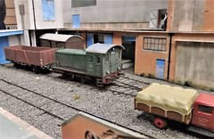 Shunting at Uraca Industries. (ManOfYorkshire) Tags: germany ogauge 143 scale model railway train layout shunting shunter pola uraca insdustries uracaindustries new micro minimumspace burgesshill exhibition exhibit ondisplay 2019 freight factory setting