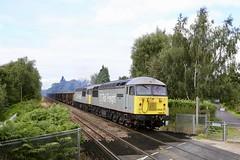 56091/103 Bessacarr Halt 10 Sep 19 (doughnut14) Tags: 56091 56103 bessacarr rail freight diesel loco grid cum dcrail rossington willesden 6z39 spoil gn ge