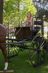 "Karen Maxwell Pecht in family buggy on loan from Museum of Ventura County • <a style=""font-size:0.8em;"" href=""http://www.flickr.com/photos/153982343@N04/48712168178/"" target=""_blank"">View on Flickr</a>"