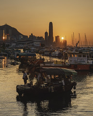 Causeway Bay Typhoon Shelter (mikemikecat) Tags: 銅鑼灣避風塘 causeway bay typhoon shelter mikemikecat nautical vessel water sunset transportation mode sky architecture built structure waterfront nature building exterior sea orange color real people men outdoors harbor one person fisherman passenger craft happyplanet asiafavorites