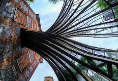 Twizzler (The Green Album) Tags: bombay sapphire distillery gin glasshouse fisheye distorted twisted glass botanicals gt uk laverstock brick architecture modern contemporary